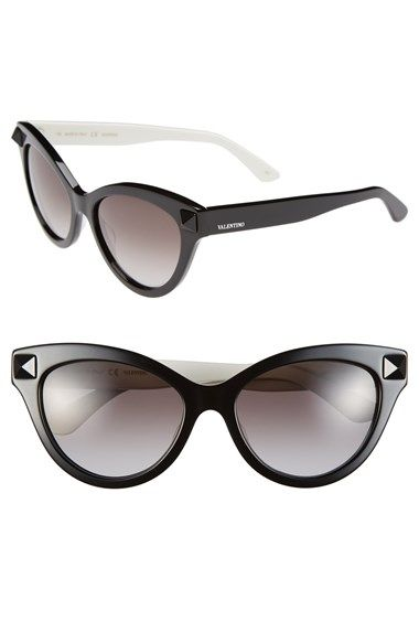 8389e2c77ee4 Valentino  Rockstud  53mm Cat Eye Sunglasses at Nordstrom.com. A curvaceous  cat-eye profile accentuates the retro glamour of gradient-lens Italian ...