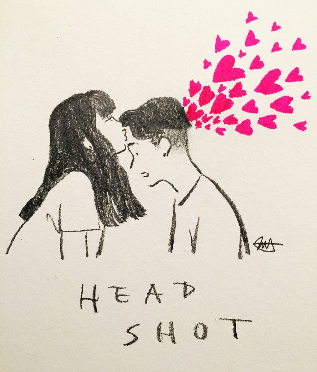 Headshot <3 | By jessoo Sketch [Art - Drawing - Pencil - Kiss - Love - Couple]