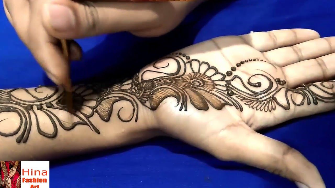 ba19a82a04985 Arabic Henna - New Easy Simple Arabic Henna Design for hand Step by Step.