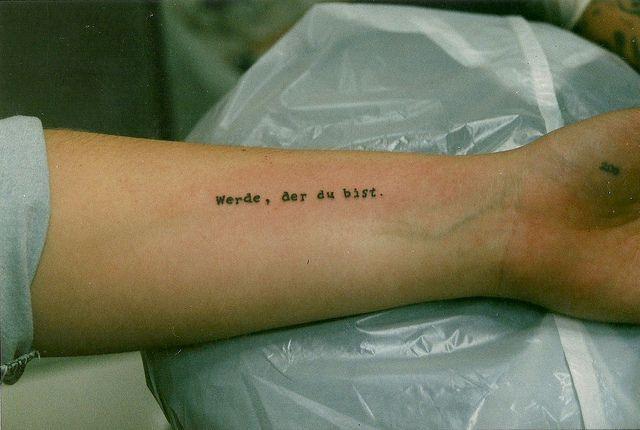 Untitled | Tattoos. | German tattoo, Phrase tattoos, Text tattoo