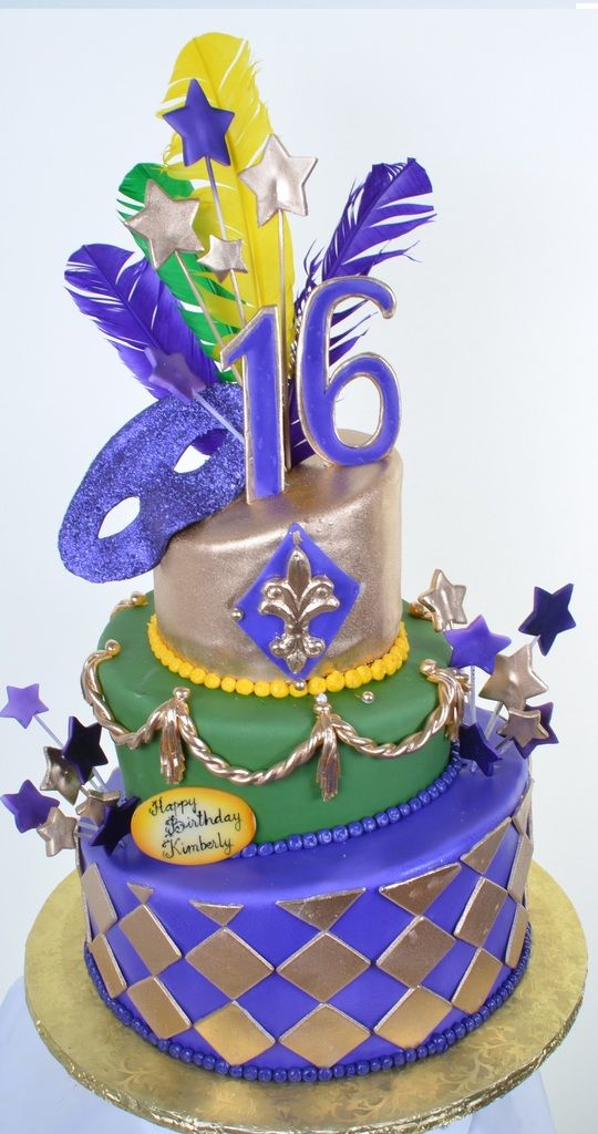 398 Sweet 16 Mardi Gras Mardi Gras Sweet 16 And Birthday Cakes