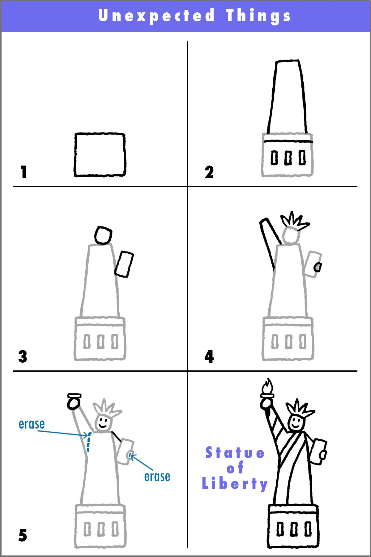 Draw the Statue of Liberty | CC cycle 3 | Pinterest | Englisch ...