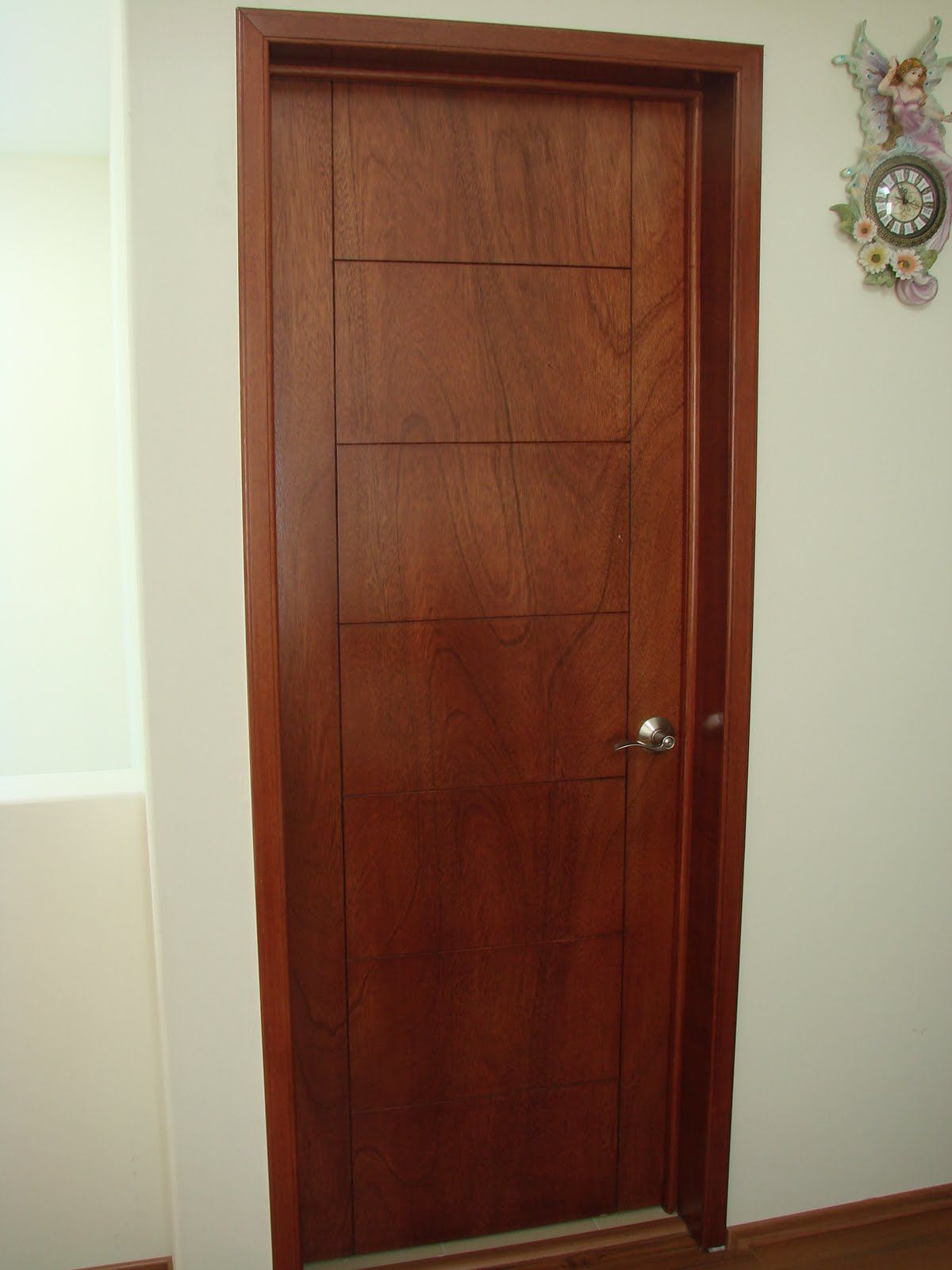 Doors furniture 6 panel solid wood door - Pueras de madera ...