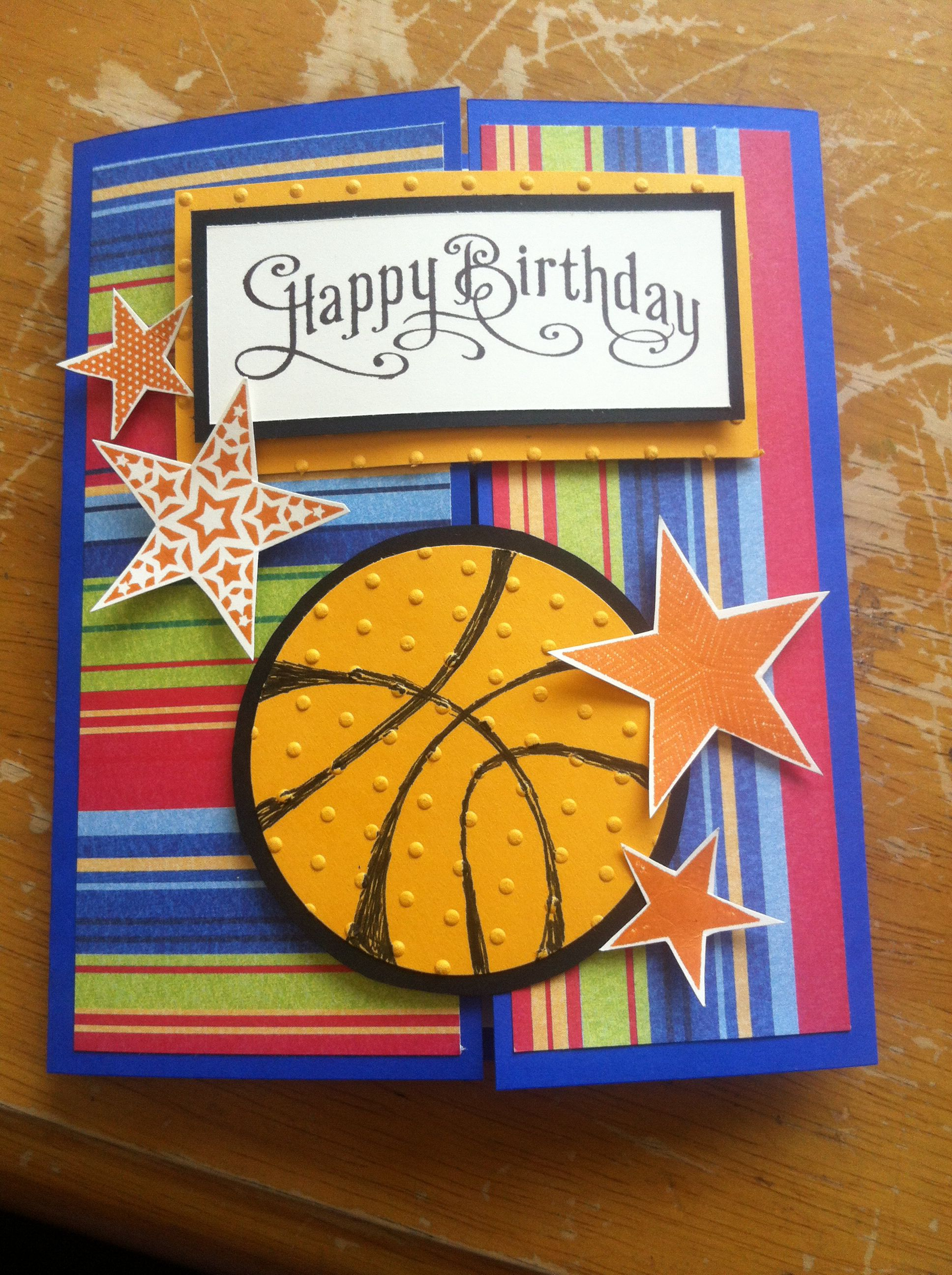 Birthday card. Basketball