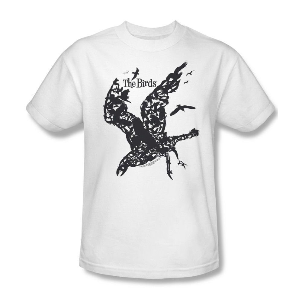 The Birds T Shirt Alfred Hitchcock Classic Horror Movie White Cotton Fiction Blouse With Obi Off Tee Uni221