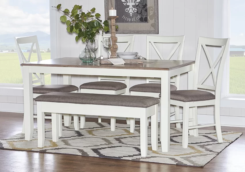 Laurel Foundry Modern Farmhouse Amaury Dining Table Wayfair White Dining Chairs Dining Room Table Chairs High Gloss Dining Room Wayfair kitchen table and chairs
