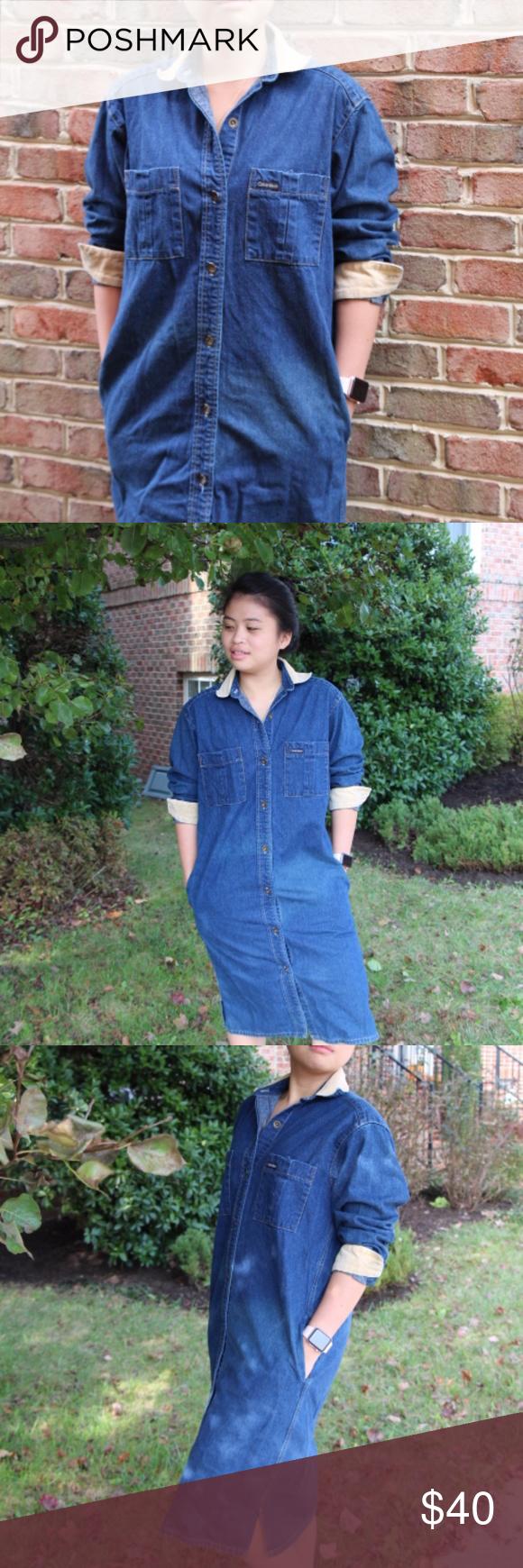 33e719b8e3f Vintage Calvin Klein Denim dress