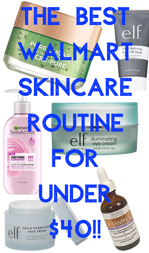 Walmart skincare routine: how I built the best skincare routine for under $40! #skincareroutine