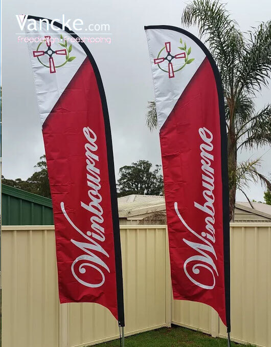 Custom Advertising Flags Feather Flag Printing In 2020 Custom Feather Flags Feather Flags Feather Banners