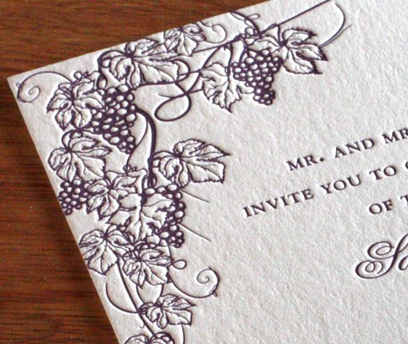 Perfect for a Sonoma or Napa County destination wedding this Wine – Wine Country Wedding Invitations