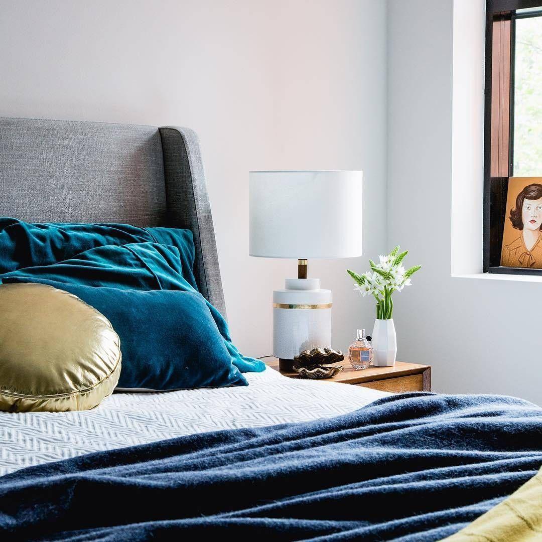 Bedroom envy via suziappel_photo, ft. our 'Upholstered