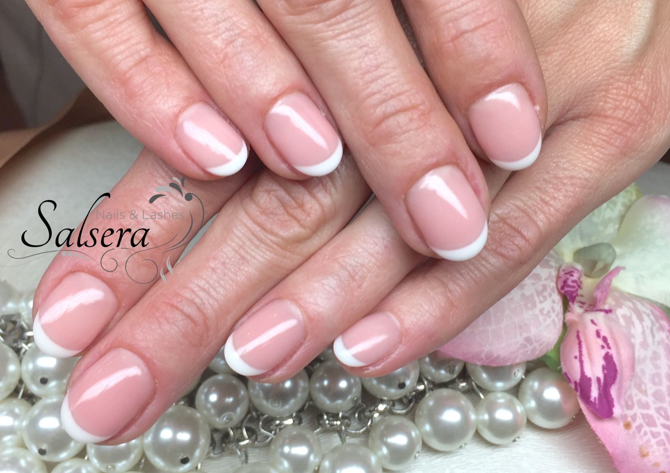 French Style Frenchnails Nageldesign Nails Rund Naildesign Natural