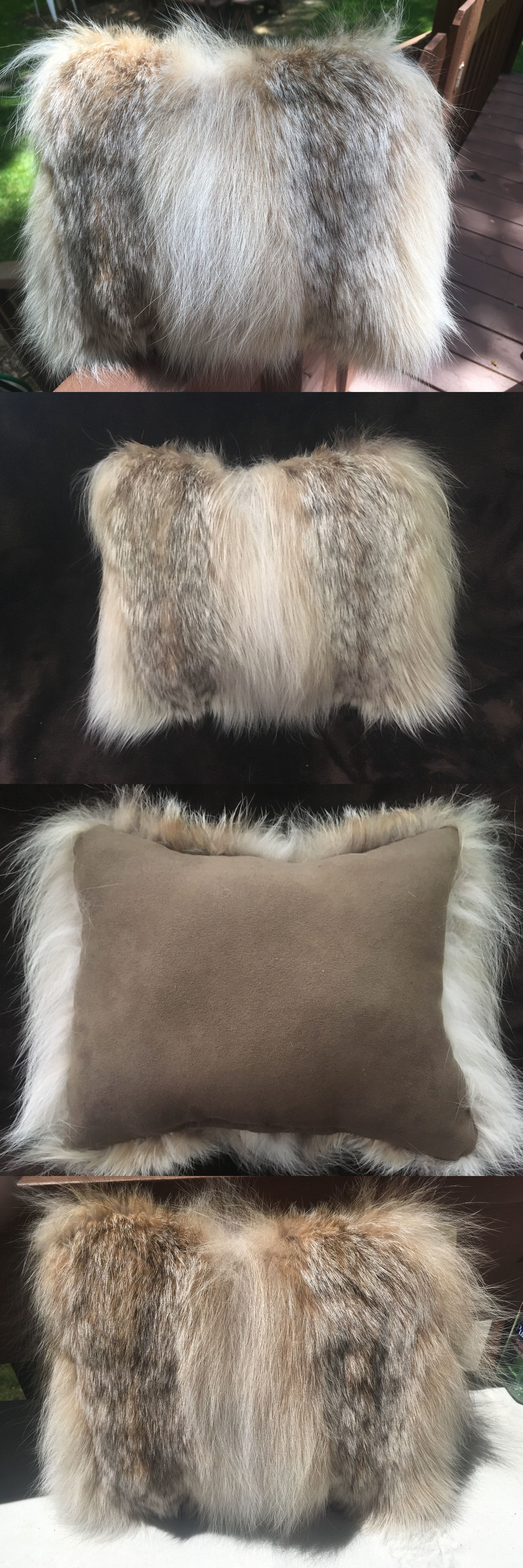 accent beige pin polyester fur faux size pologear white x pillow llama solid washable inch color off square