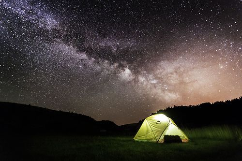 Glowing tent under the stars & Glowing tent under the stars | Outdoors | Pinterest | Tents