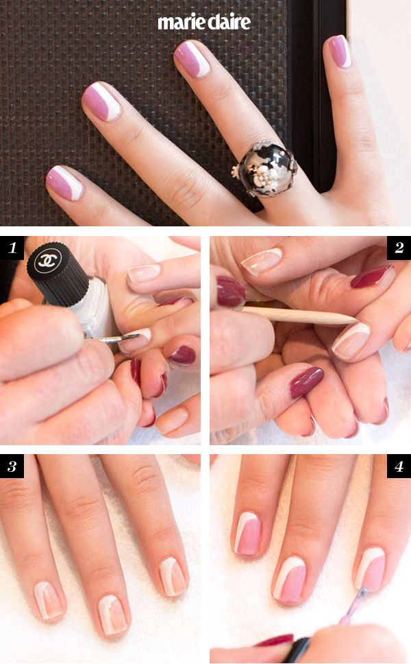 Chanel Nail Art Howto The New French Manicure Uñas
