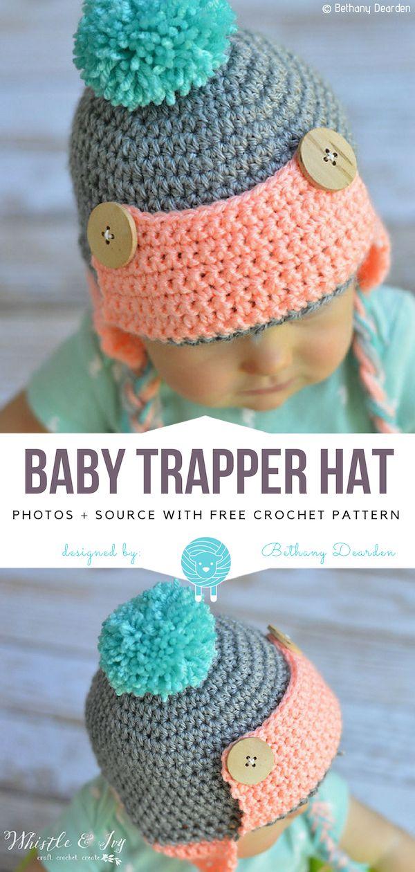 Baby-Trapper-Hut frei Häkelanleitung   Häkeln   Pinterest   Crochet ...