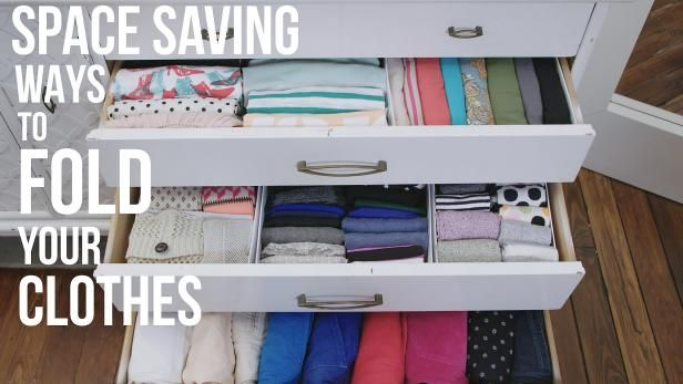 See Everything You Own And Make More Room In Your Dresser Drawers By Folding Your Clot Clothes Closet Organization Closet Hacks Organizing Dresser Organization