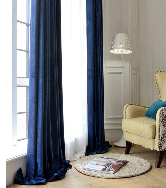 navy blue velvet curtains regal blue pair of navy blue velvet curtains bedroom living room custom curt