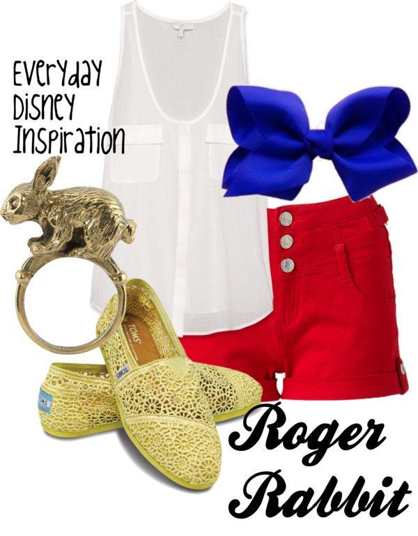 """Roger Rabbit"" by everydayinspiration1392 ❤ liked on Polyvore"