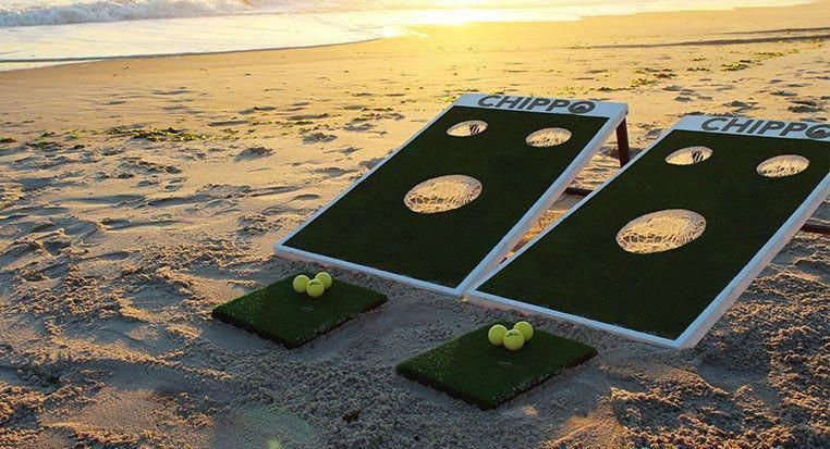 What is Chippo? According to the company's informative video, it's The glorious love child of golf and cornhole. | Rock Bottom Golf #RockBottomGolf #golfingjokes #golfhumour #Golfhumor #golfhumor