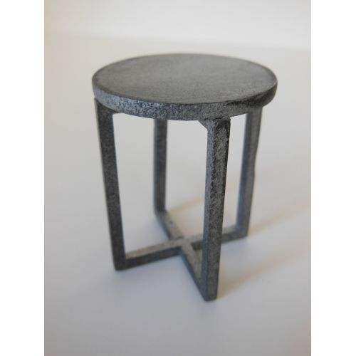 X Side Table in Patina Metal