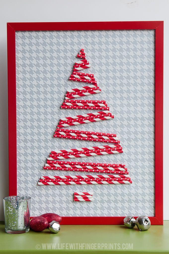 Christmas Crafts Part 2 Life With Fingerprints Christmas Paper Crafts Christmas Card Crafts Straw Crafts