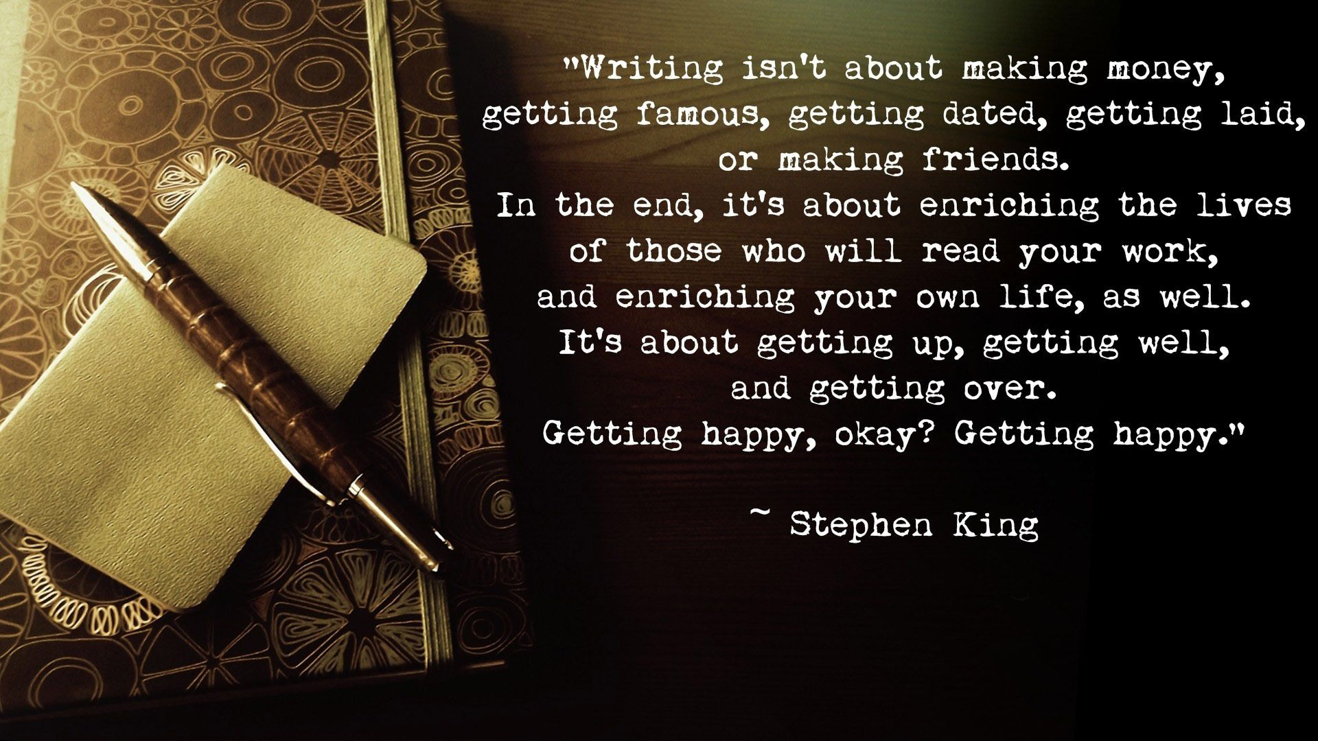 just finished reading on writing by stephen king! what a great read
