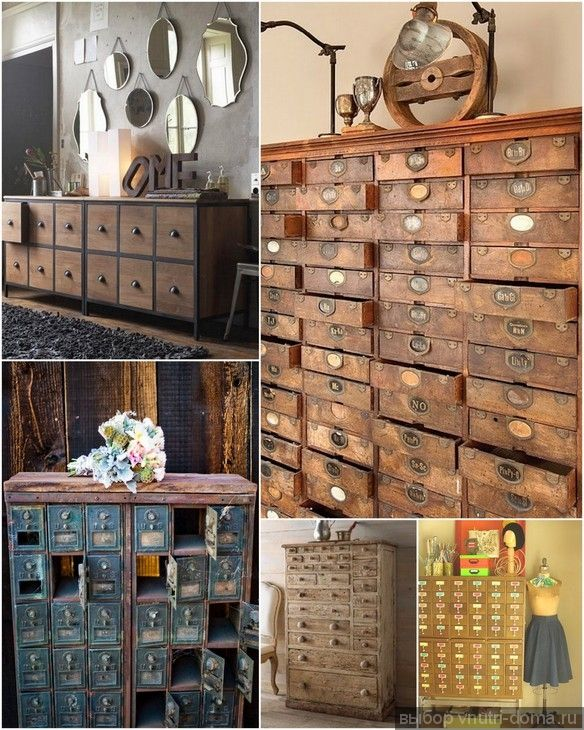Etonnant Cupboards And Drawers With Many Small Drawers