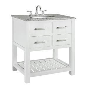 Home Decorators Collection Fraser 31 Inw X 2112 Ind Bath Awesome White Bathroom Vanity Home Depot Inspiration