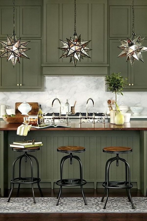 80+ Cool Kitchen Cabinet Paint Color Ideas - Noted List Country