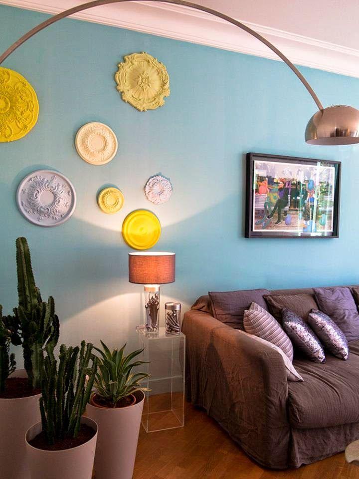 r novation appartement leroy merlin via nat et nature au mur les rosaces de plafond peintes. Black Bedroom Furniture Sets. Home Design Ideas