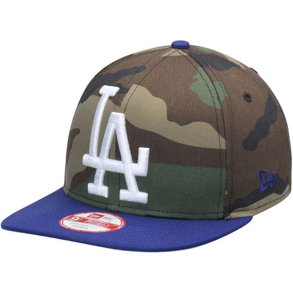69a56c47b2f Los Angeles Dodgers New Era Woodland Logo Grand Redux Original Fit 9FIFTY  Adjustable Hat - Camo Royal