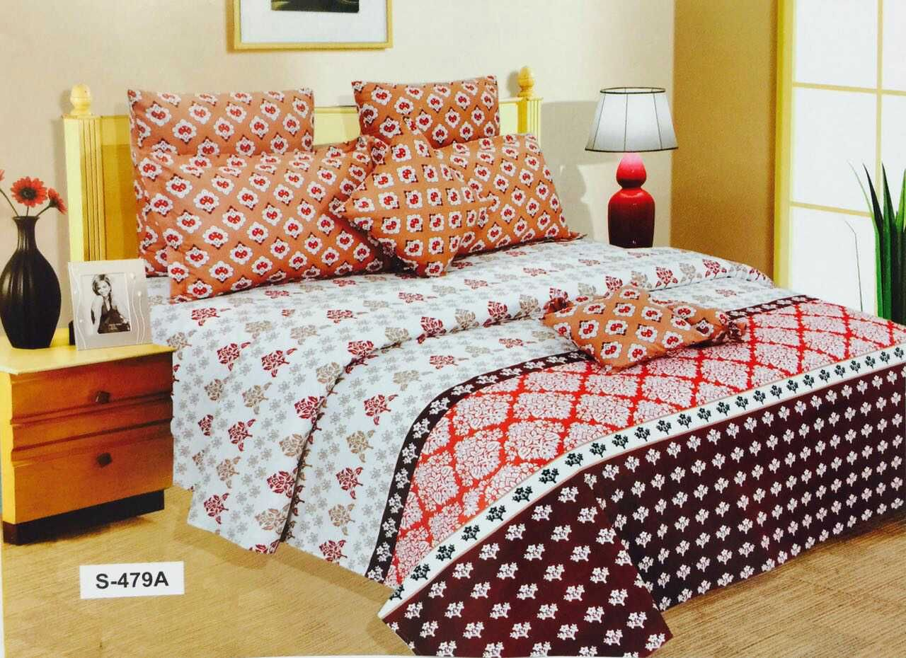Attractive 90x100 In.one Bed Sheet,17x27 In.two Pillows.40 Sheeting Fabric.Book Fold  Packing..1.8 Kg.