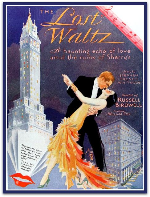 Vintage Film Advert for The Lost Waltz 1929