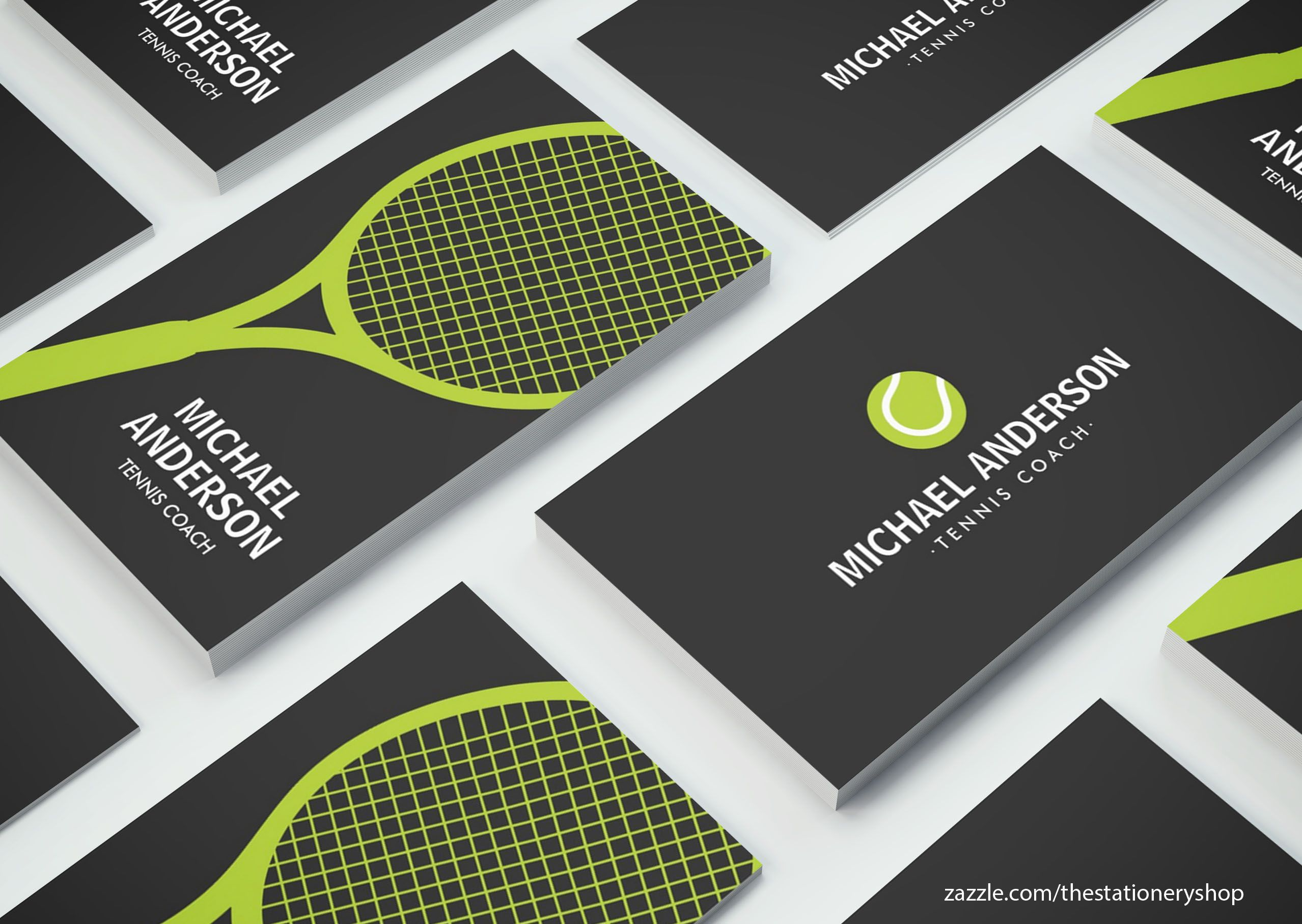 Stylish, minimal tennis business cards. Great for a tennis coach ...