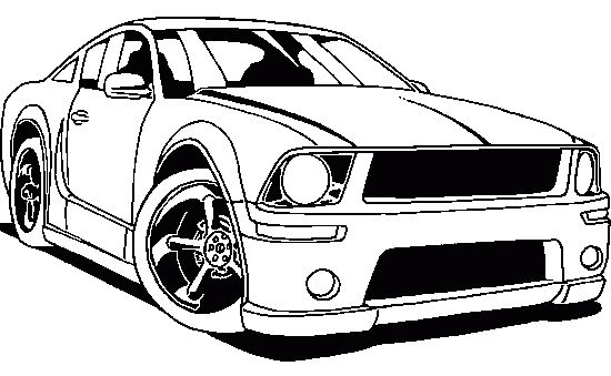 Coloring Pages Mustang Car : Mustang racing coloring page car pages