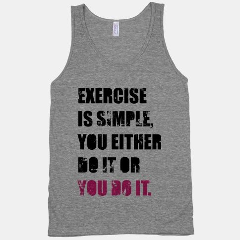 Exercise Is Simple Tank Top | LookHUMAN