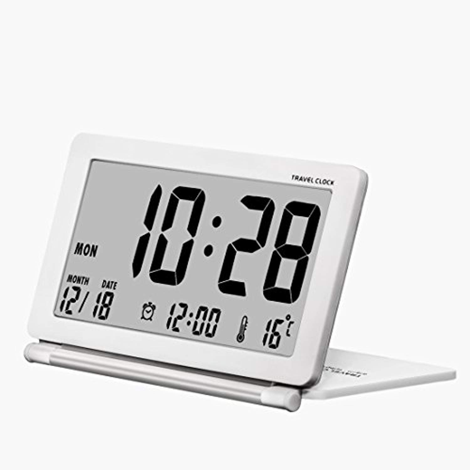Alarpro Small Digital Alarm Clock Battery Operated For Travel With