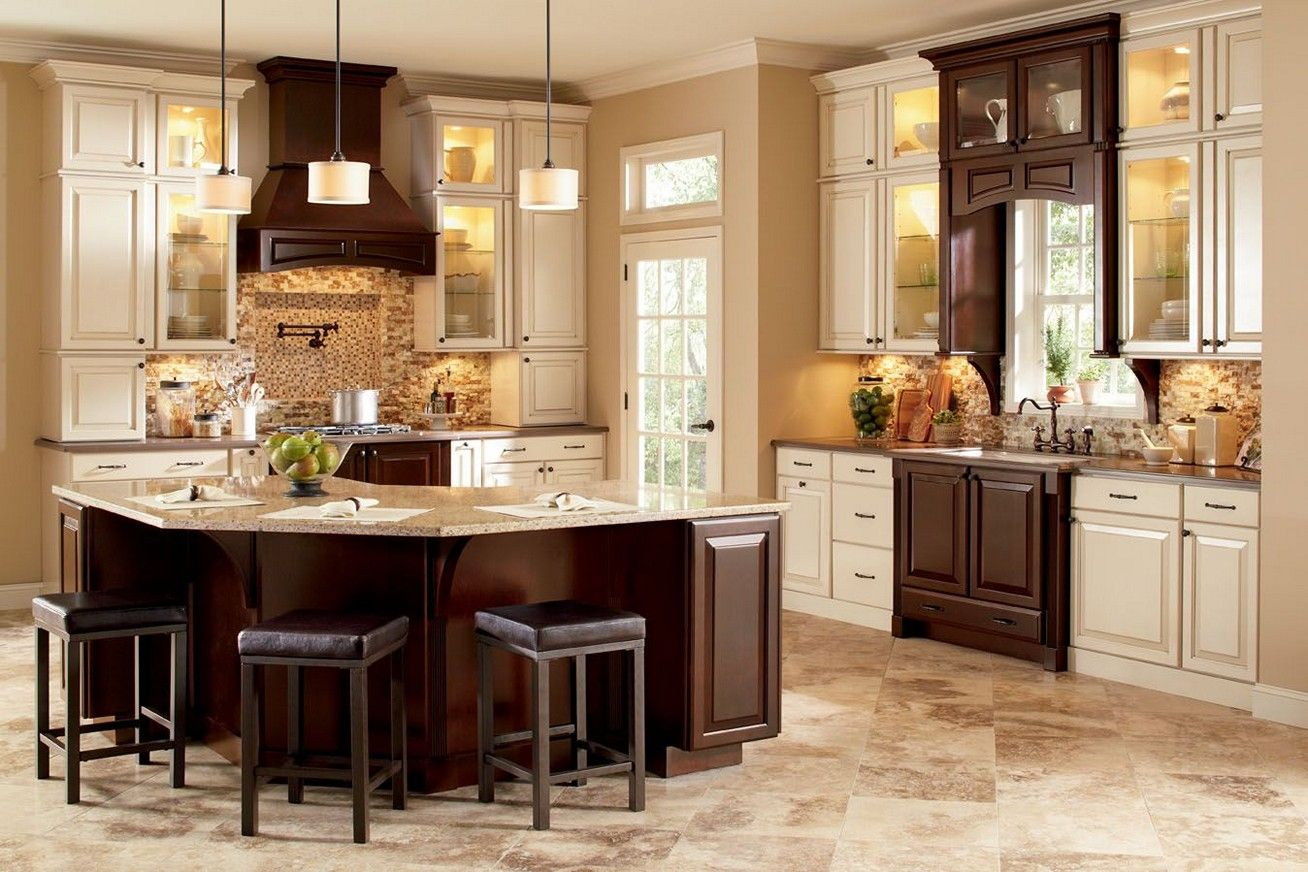 Sensational Amazing Dark Brown Varnishes Cherry Wood Kitchen Island With Squirreltailoven Fun Painted Chair Ideas Images Squirreltailovenorg