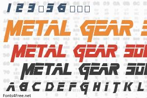 Metal Gear Solid Font Metal Gear Metal Gear Solid Metal