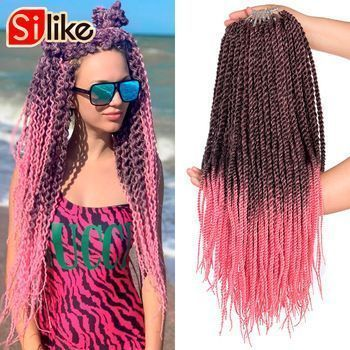 Silike Senegalese Twist 22 inch Ombre Black Pink Crotchet Braids 18 roots/pack Synthetic Crochet Braiding Hair Extensions #crotchetbraids Silike Senegalese Twist 22 inch Ombre Black Pink Crotchet Braids 18 roots/pack Synthetic Crochet Braiding Hair Extensions # Braids with extensions pink # Braids with extensions pink #crochetsenegalesetwist Silike Senegalese Twist 22 inch Ombre Black Pink Crotchet Braids 18 roots/pack Synthetic Crochet Braiding Hair Extensions #crotchetbraids Silike Senegalese #crochetsenegalesetwist