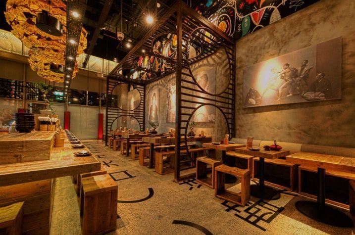 Décoration d\'un restaurant japonais par Mojo Design | Restaurants ...