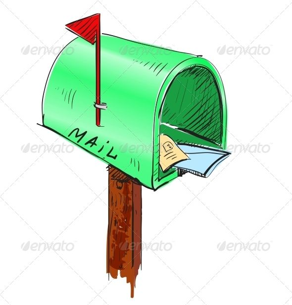 10+ Mailbox Clipart Black And White