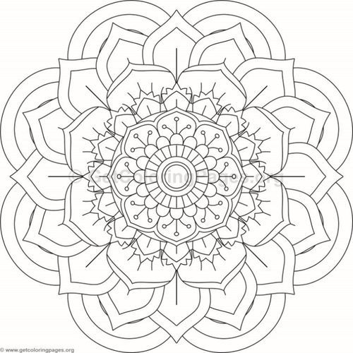 Flower Mandala Coloring Pages 85   GetColoringPages org is part of Mandala coloring pages -