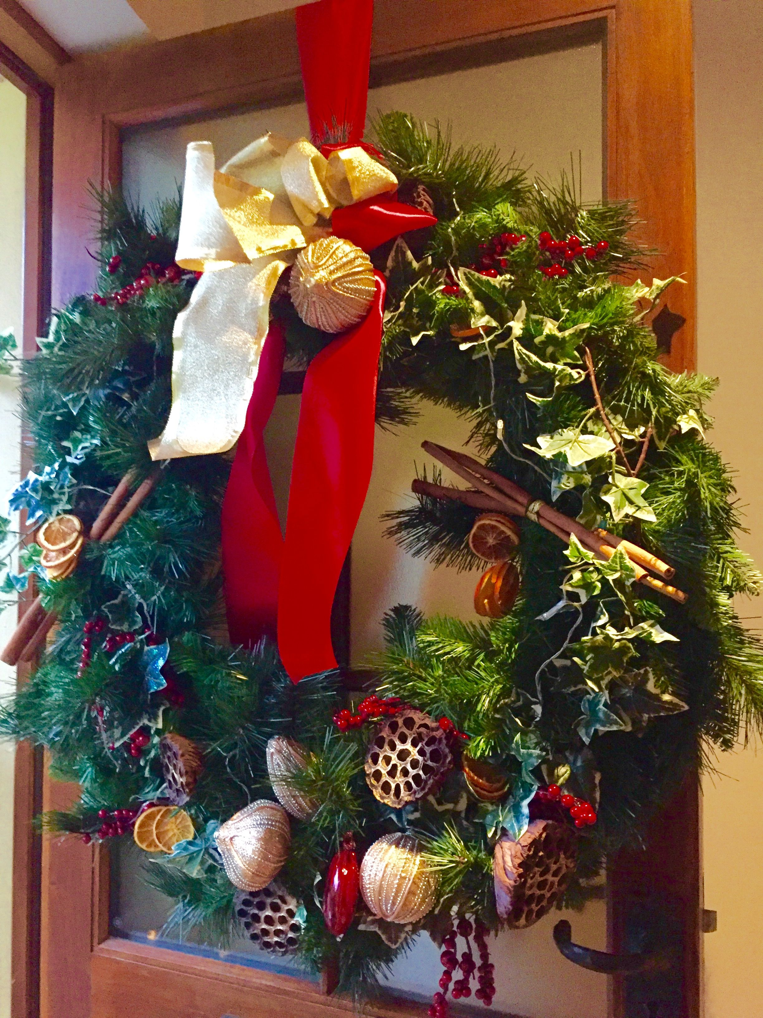 Country Wreath For Rental Home By Anya Banks Anyabankschristmasdecoratorcouk