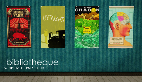 Bibliotheque - 25 Literary Posters