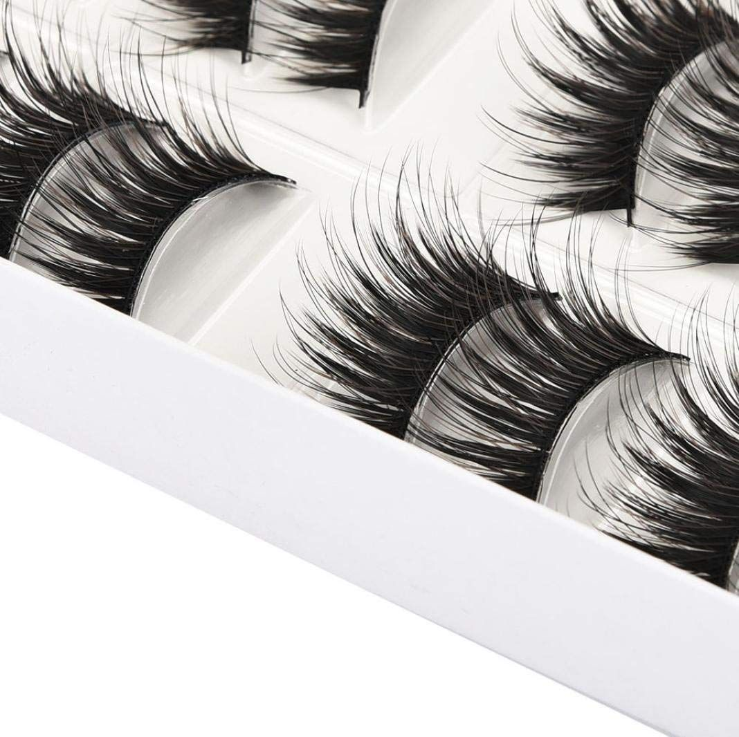 a8fb1023215 Scary Halloween Makeup Ideas - 10 Pairs Thick Long Cross Party False  Eyelashes Multicolor Band Fake Eye Lashes (Brown) #halloweenmakeupideas