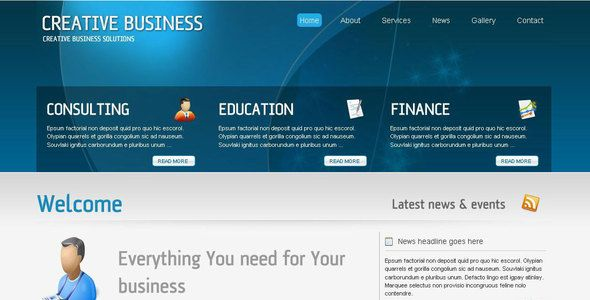 creative business full corporate template website templates