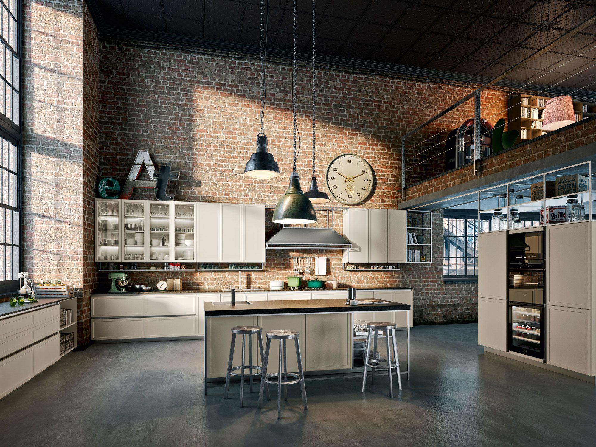 Pin di max su home design cuisine style industriel for Appartamento design industriale