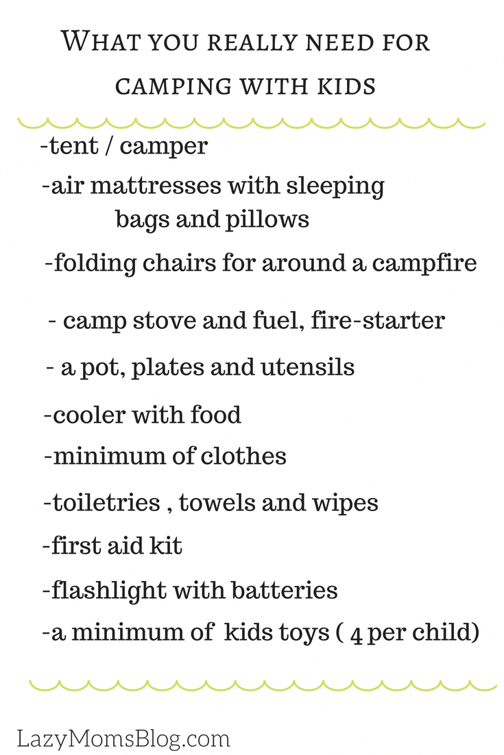 lazy moms guide to camping with kids | camping location | pinterest